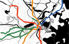 Example: Colored transit lines